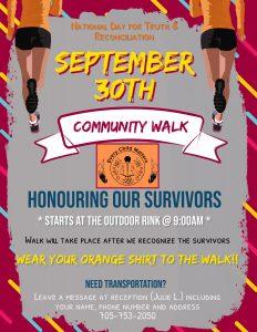 Community Walk - Honouring our Survivors @ Garden Village Outdoor Rink