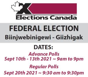 Federal Election - Regular Polls @ NFN Complex Gym & Community Hall in Duchesnay