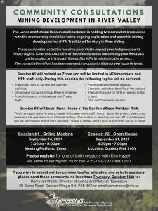 Consultation: Exploration & Potential Mining Development in River Valley @ Garden Village Outdoor Rink